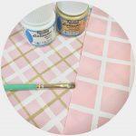 ★お役立ち情報★布用塗料を使ったチェック柄の作り方!